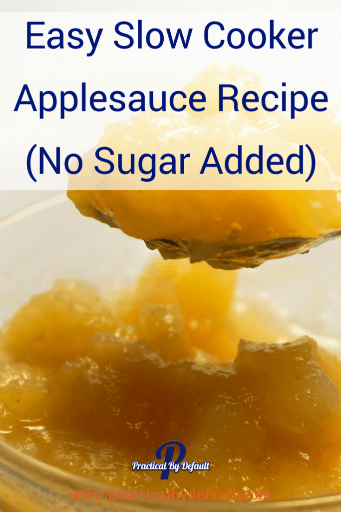 Easy Slow Cooker Applesauce Recipe (No Sugar Added)