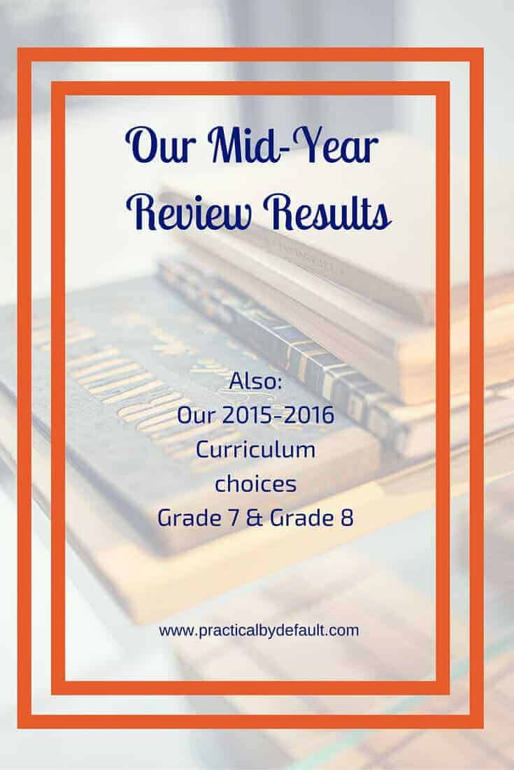 homeschool schedule results from mid year review 2015 curriculum choices