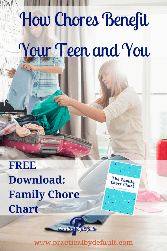 Do you think your teen should do chores? Are you worried that you don't have the time? Read two reasons why chores are important and can save you time! Set your child up for success today!