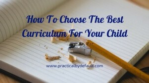 Finding the right curriculum for your child-Free workbook