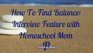 How To Find Balance: Interview Feature with Homeschool Mom