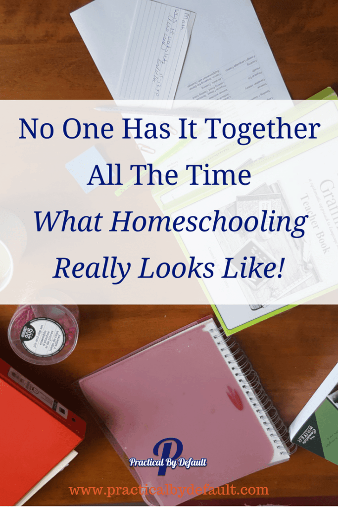 No working homeschool mom is perfect. Not you, not me. This is what our homeschool looks like. What does homeschooling look like in your house?