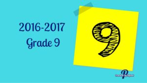 Our Grade 9 choices for 2016-2017 school year