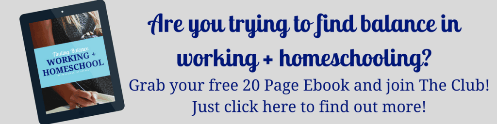 Get the book on Finding Balance while working and homeschooling