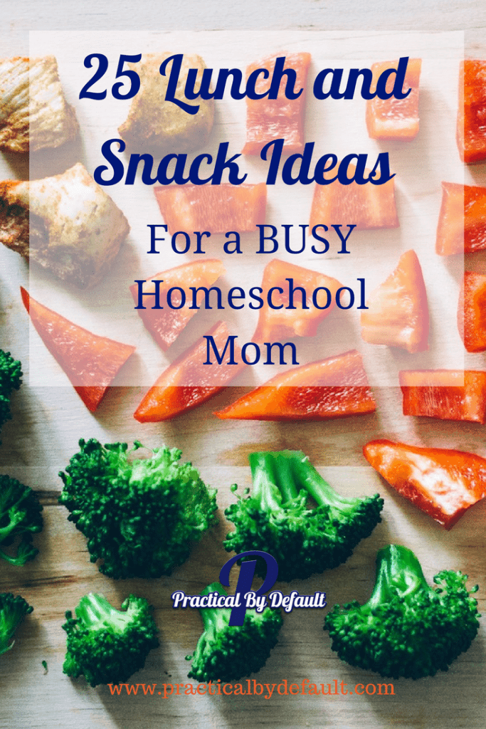 A busy mom's quick list for lunch and snack ideas!