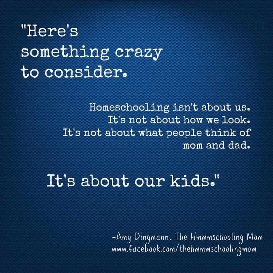 Homeschooling is not about you, its about your children. How to navigate the homeschooling highway