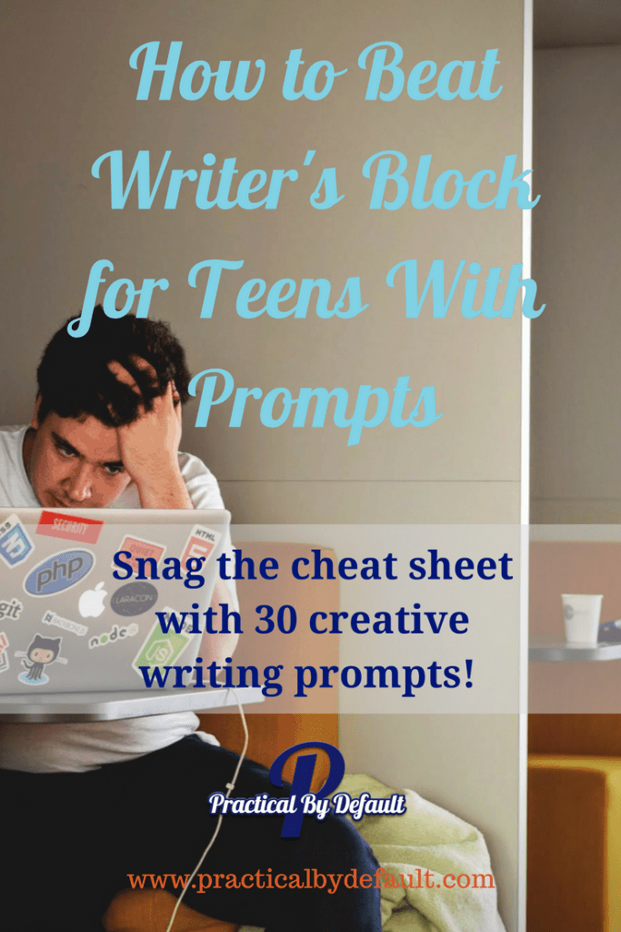 Beat writer's block! Get your teen writing and having fun with these creative writing prompts! (Grab the download of 30 prompts-print and go!)