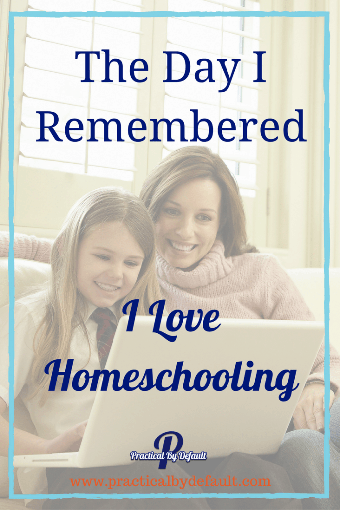 Have you forgotten why you love homeschooling? What is that one shining moment that made you remember?