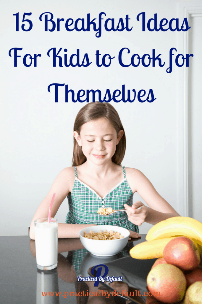 Help your older kid to build self confidence by making their own breakfast! Bonus: saves you time.