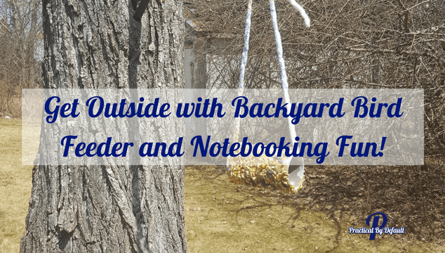 Get outside with Backyard bird houses and notebooking fun for your family