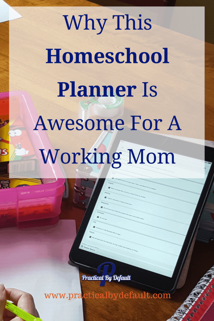 Are you curious if there is a homeschool planner that can work for a working mom? Sharing the perfect online planner that replaced 6 in my house!