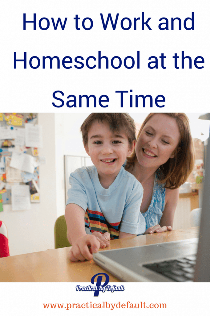 Are you tired of being told working and homeschooling at the same time is impossible? It's not. You can do it.