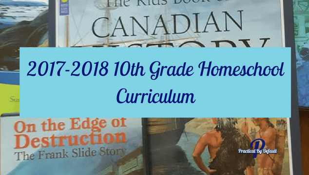 list of curriculum for grade 10