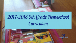 Our 9th Grade Homeschool Curriculum page