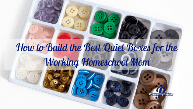 How to Build the Best Quiet Boxes for the Working Homeschool Mom- sometimes we need them to be quiet