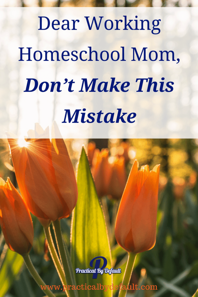 Have you just started working and homeschooling ? Beware of making this mistake!