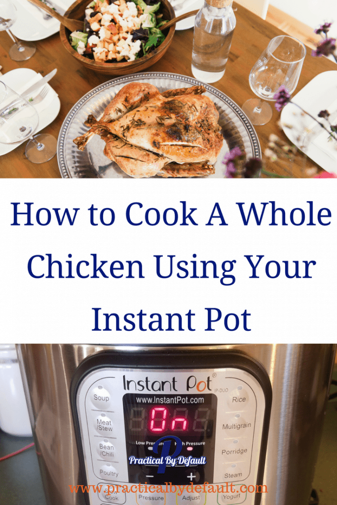 Do you want to make a whole chicken quickly and easily? Check out how I cooked ours in a Instant Pot