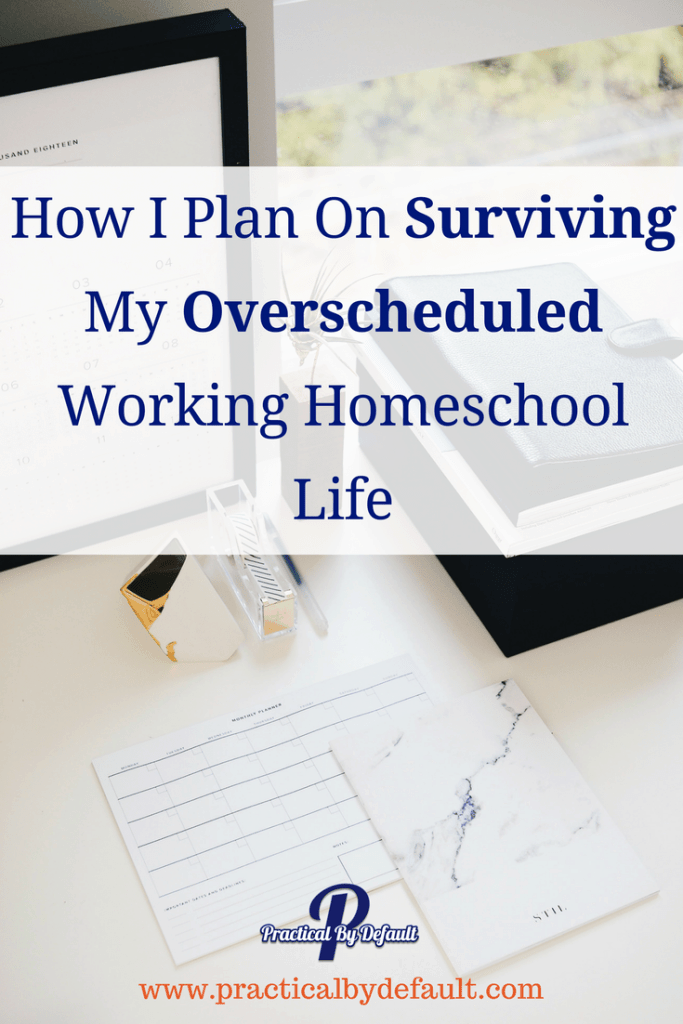 "It is easy to find yourself overscheduled. Be it the holiday season, work picks up, or too many ""yes"". Sharing ways to adjust your #homeschooling life"