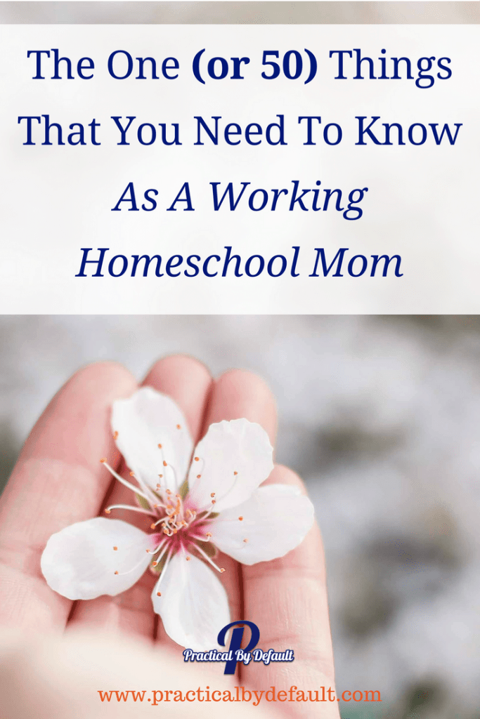 Are you wondering what you need to know as a working homeschool mom? Here is a list of 50!