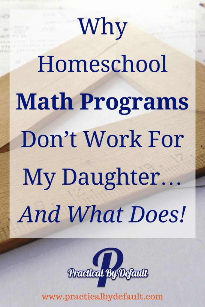 There are a few things that can make you feel like a complete failure as a mom. A child crying her heart out over a #homeschool Math Program is one of them. Sharing why Math curriculum doesn't work and what we does!
