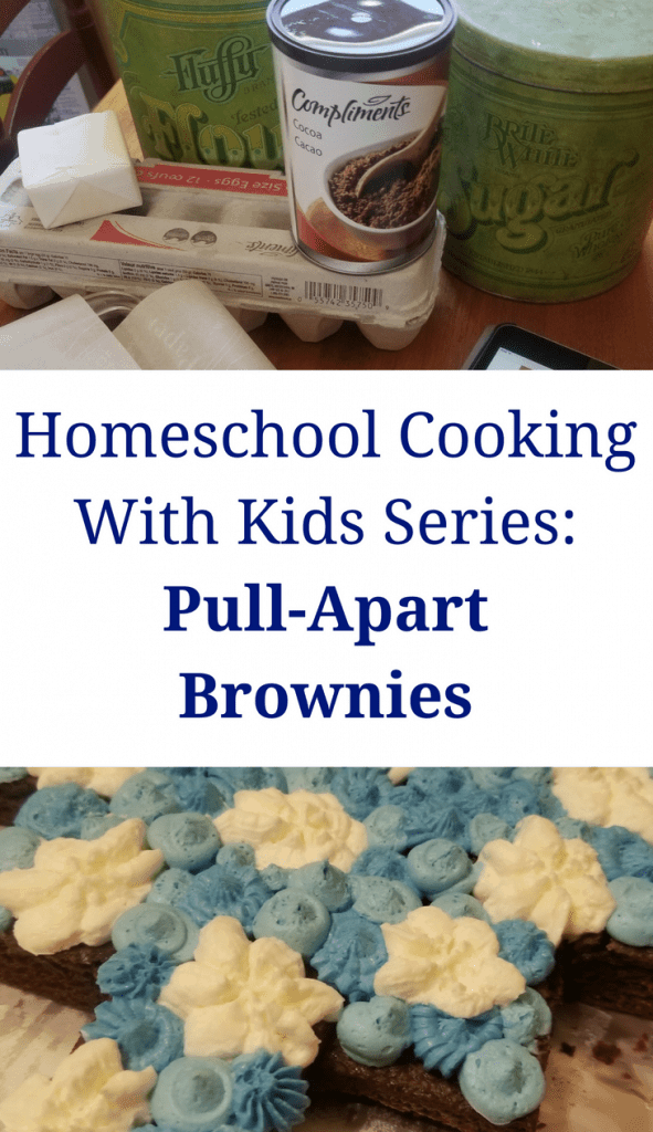 Homeschool Cooking With Kids Series: Pull-Apart Brownies Your kids can make!