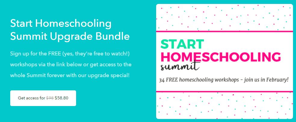Start homeschool summit bundle