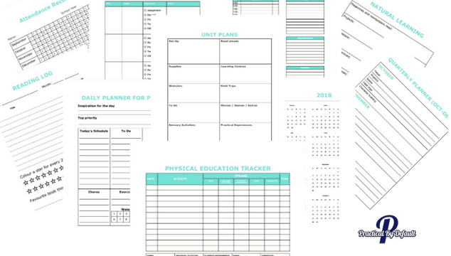 photograph relating to Homeschool Daily Schedule Printable titled homeschool planner Archives Easy, Through Default