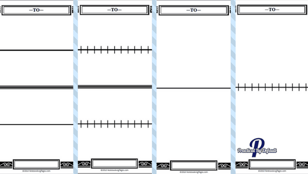 4 different styles of timelines for Notebooking pages