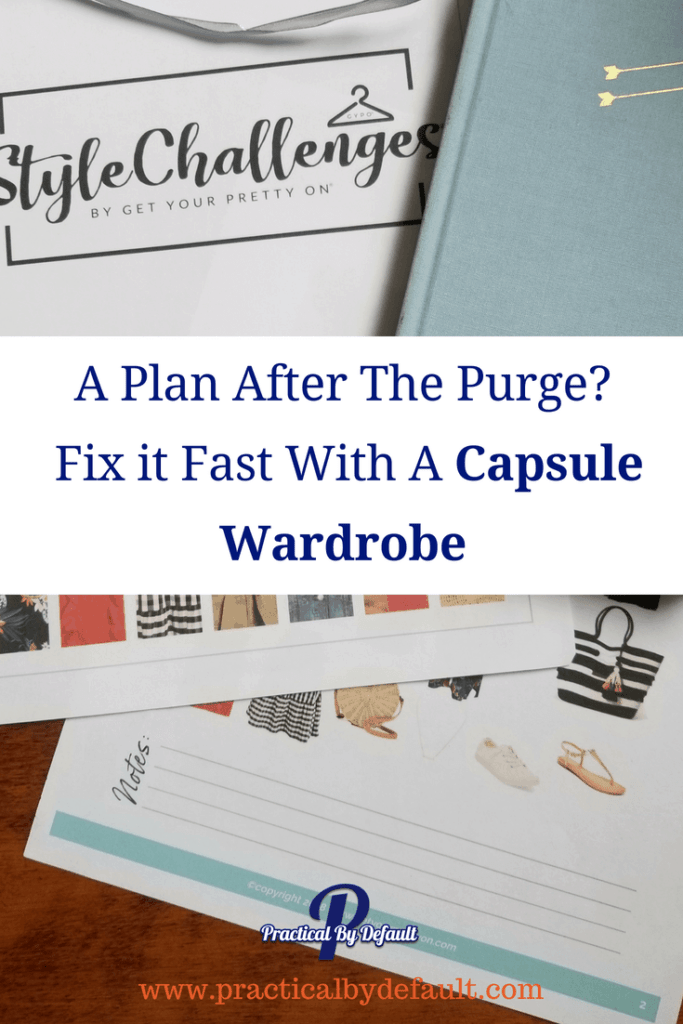 A Plan After The Purge_ Fix it Fast With A Capsule Wardrobe -Saving time and money tips!