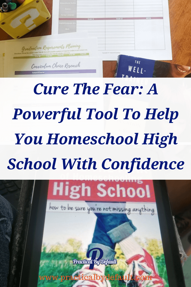Cure The Fear A Powerful Tool To Help You Homeschool High School