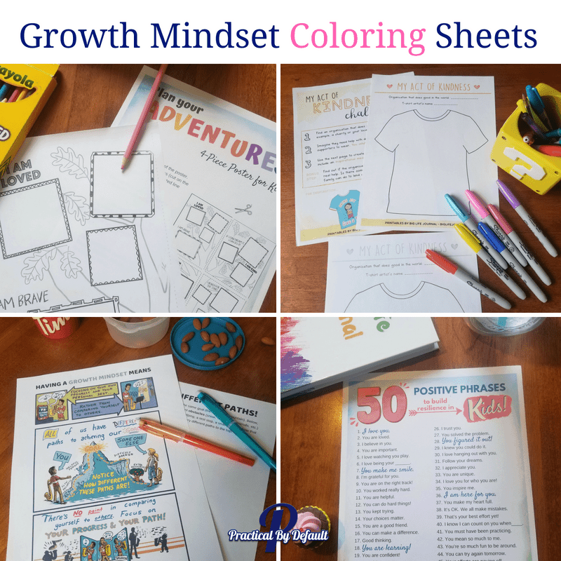 Growth mindset coloring sheets