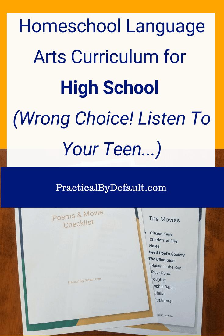 Homeschool Language Arts Curriculum for High School (Wrong Choice! Listen To Your Teen...) #highschool #homeschoolinghighschool #onlinelearning