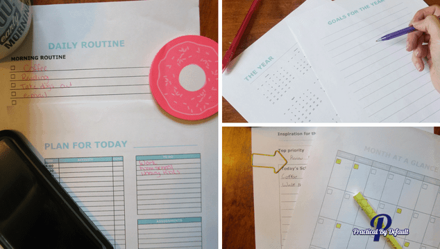 Deluxe homeschool planner used for working moms