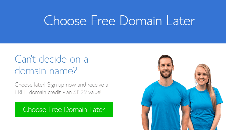 Choose your domain later