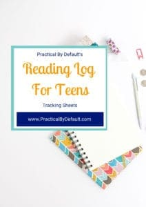 Printable reading chart for teens