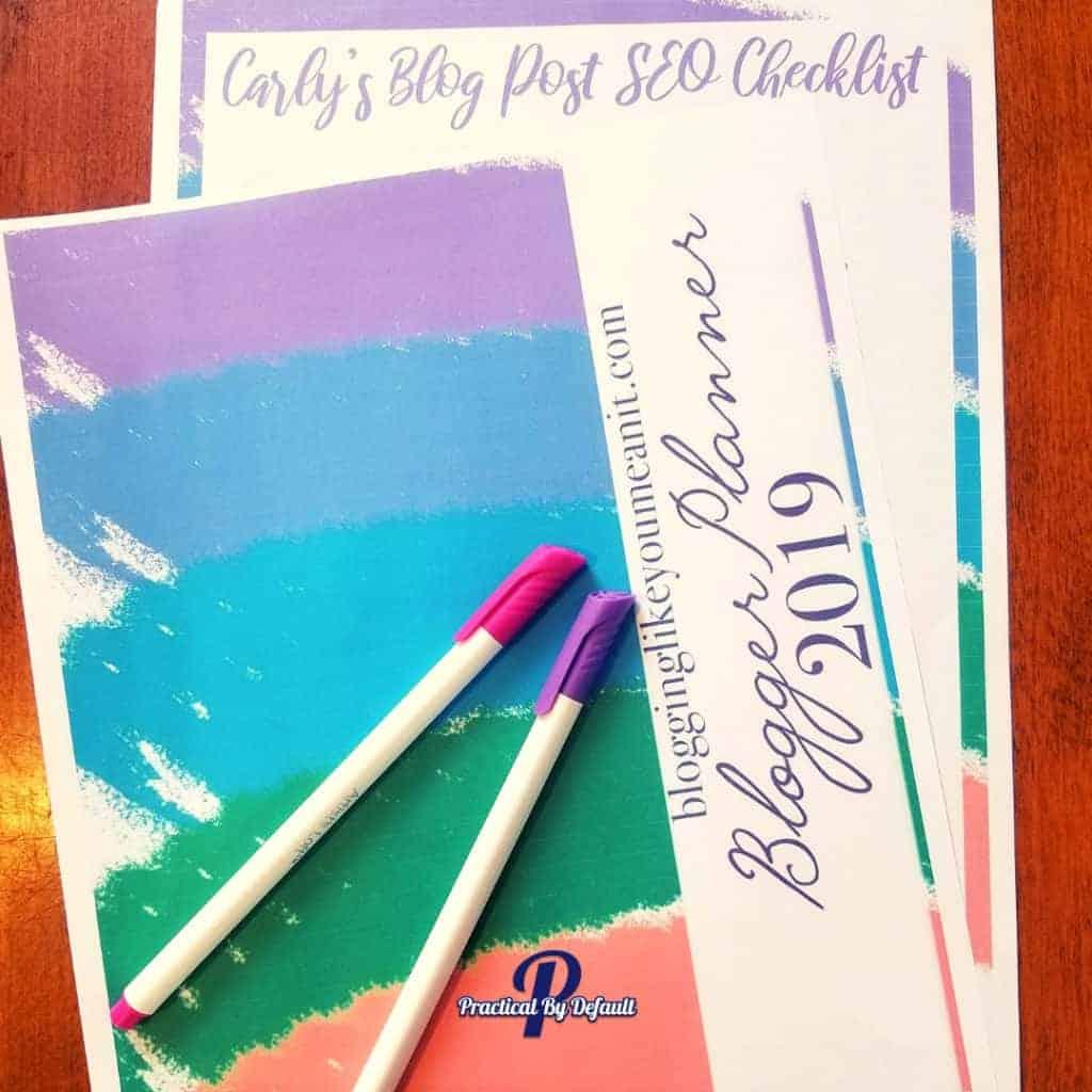 2019 Carly's blog Planner printalbe