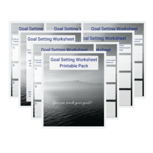 Goal setting Printable Pack 8 display
