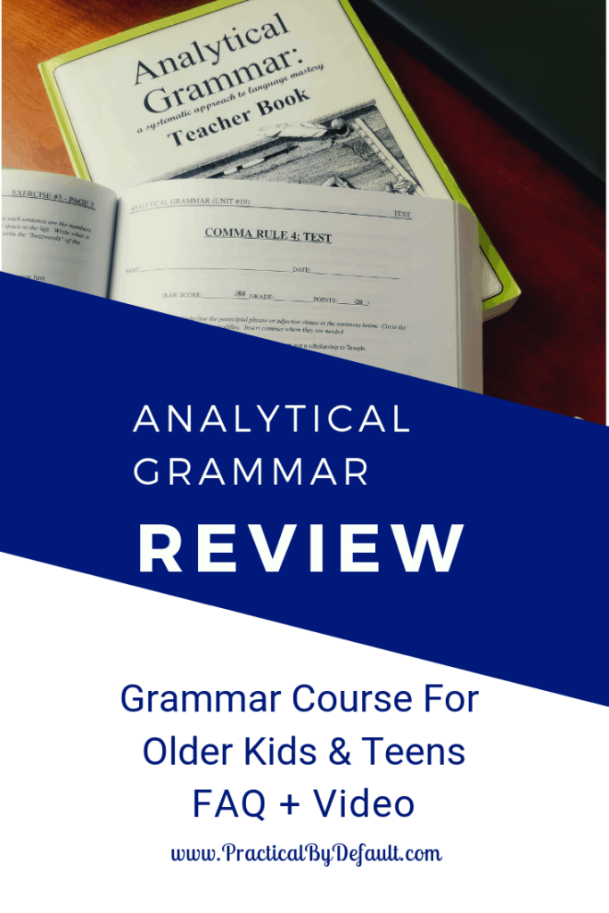 Analytical Grammar review of the teacher's manual, student book and reinforcement books. Video and FAQ included