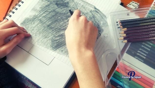 Art school drawing 101 example of shading